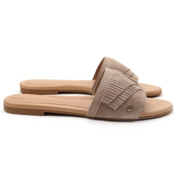 1335aa8bdd34 UGG Binx Sand Fringe Sandals 🔥
